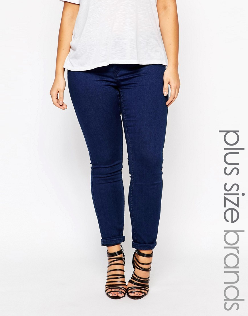 Queen Skinny Jean Blue - style: skinny leg; pattern: plain; pocket detail: traditional 5 pocket; waist: mid/regular rise; predominant colour: royal blue; occasions: casual; length: ankle length; fibres: cotton - stretch; texture group: denim; pattern type: fabric; season: s/s 2016