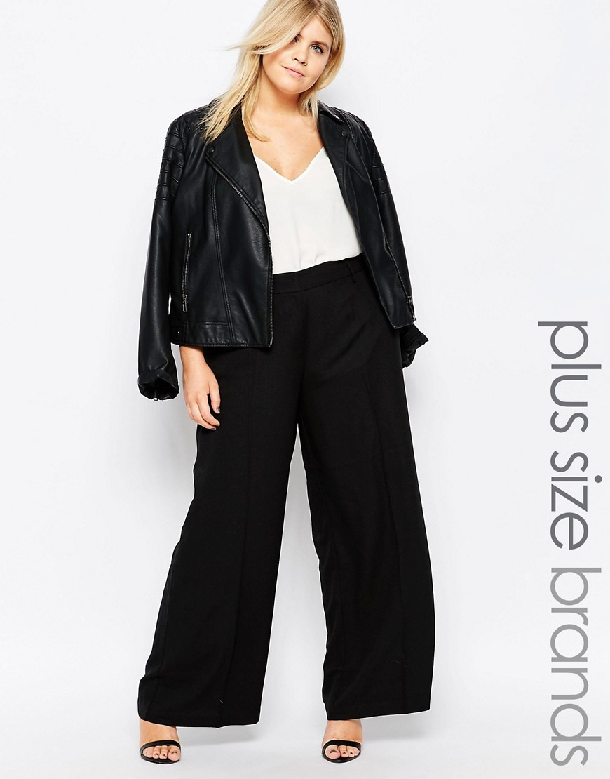 Manse Trousers Black - length: standard; pattern: plain; waist: high rise; predominant colour: black; occasions: evening; fibres: polyester/polyamide - 100%; texture group: crepes; fit: wide leg; pattern type: fabric; style: standard; season: s/s 2016