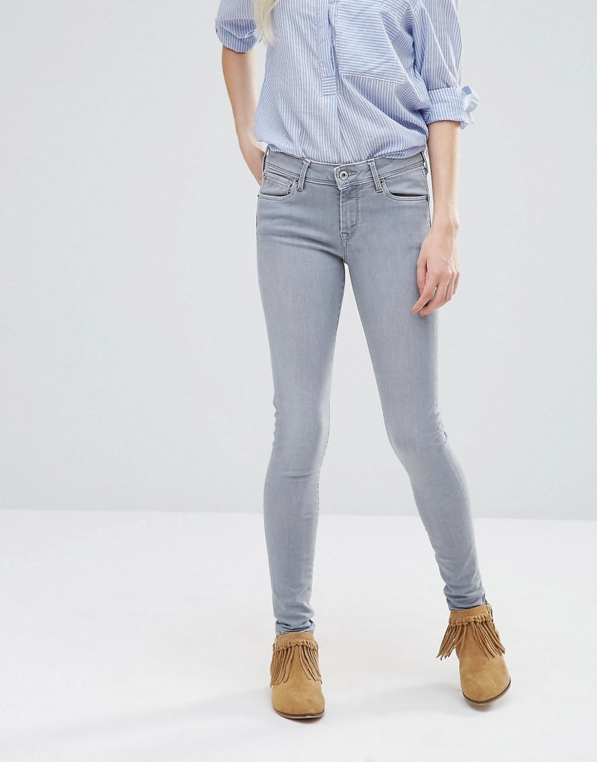 Lola Skinny Jeans 30'' 10oz Vacuum Seal Gre - style: skinny leg; length: standard; pattern: plain; pocket detail: traditional 5 pocket; waist: mid/regular rise; predominant colour: light grey; occasions: casual; fibres: cotton - stretch; texture group: denim; pattern type: fabric; season: s/s 2016; wardrobe: highlight