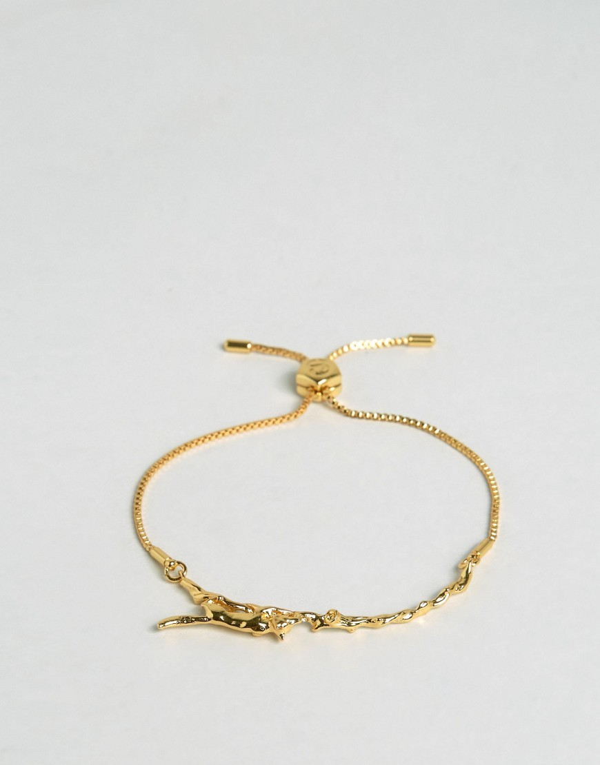 Mini Fox Friendship Bracelet Gold - predominant colour: gold; occasions: evening; style: friendship/tie; size: small/fine; material: chain/metal; finish: metallic; season: s/s 2016; wardrobe: event