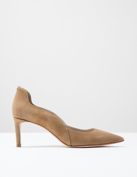 Wave Mid Court Camel Suede Women, Camel Suede - predominant colour: camel; occasions: evening, creative work; material: suede; heel height: high; heel: stiletto; toe: pointed toe; style: courts; finish: plain; pattern: plain; season: s/s 2016; wardrobe: investment