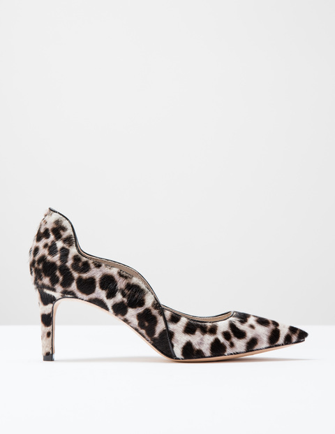 Wave Mid Court Snow Leopard Pony Women, Snow Leopard Pony - predominant colour: ivory/cream; secondary colour: black; occasions: work, creative work; material: animal skin; heel height: mid; heel: stiletto; toe: pointed toe; style: courts; finish: plain; pattern: animal print; season: s/s 2016