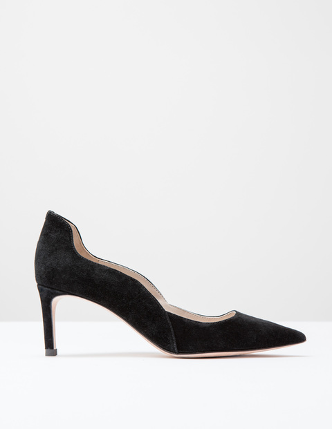 Wave Mid Court Black Suede Women, Black Suede - predominant colour: black; occasions: evening, occasion; material: suede; heel height: high; heel: stiletto; toe: pointed toe; style: courts; finish: plain; pattern: plain; season: s/s 2016; wardrobe: event