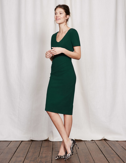 Honor Dress Emerald Night Women, Emerald Night - length: below the knee; neckline: v-neck; fit: tight; pattern: plain; style: bodycon; predominant colour: dark green; occasions: evening; fibres: cotton - stretch; sleeve length: short sleeve; sleeve style: standard; texture group: jersey - clingy; pattern type: fabric; season: s/s 2016; wardrobe: event