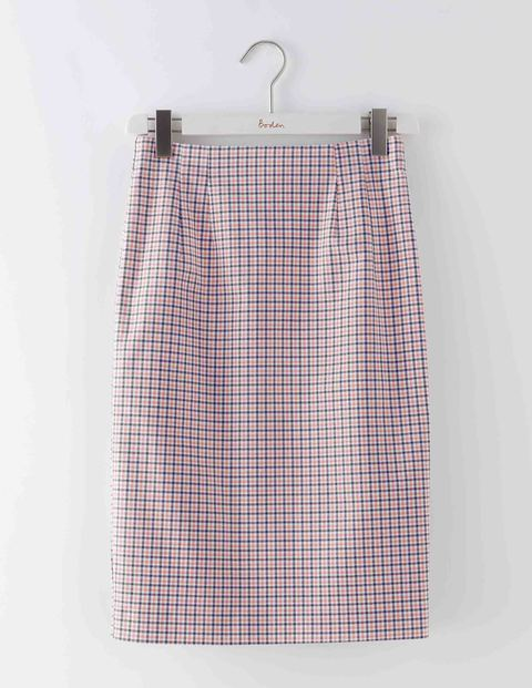 Richmond Pencil Skirt Check Women, Check - pattern: checked/gingham; style: pencil; fit: tailored/fitted; waist: mid/regular rise; secondary colour: ivory/cream; predominant colour: blush; occasions: casual; length: just above the knee; fibres: cotton - stretch; texture group: cotton feel fabrics; pattern type: fabric; multicoloured: multicoloured; season: s/s 2016; wardrobe: highlight