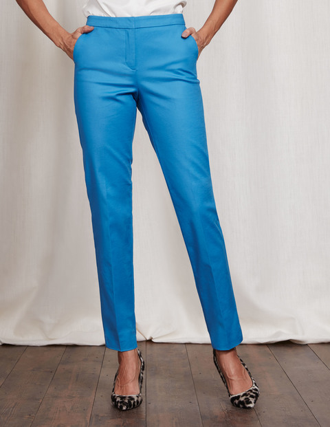 Richmond Trousers Solstice Blue Women, Solstice Blue - length: standard; pattern: plain; waist: mid/regular rise; predominant colour: diva blue; occasions: casual; fibres: cotton - stretch; texture group: cotton feel fabrics; fit: slim leg; pattern type: fabric; style: standard; season: s/s 2016; wardrobe: highlight