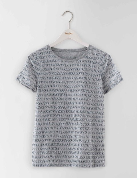 Make A Statement Tee Grey Heart Stripes Women, Grey Heart Stripes - style: t-shirt; predominant colour: mid grey; occasions: casual; length: standard; fibres: cotton - 100%; fit: body skimming; neckline: crew; sleeve length: short sleeve; sleeve style: standard; pattern type: fabric; pattern: patterned/print; texture group: jersey - stretchy/drapey; season: s/s 2016