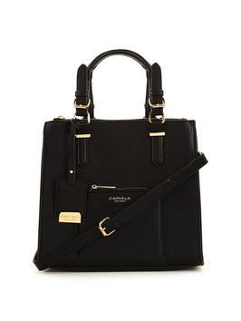 Aurelie Tote Bag With Purse Black - predominant colour: black; occasions: casual, creative work; type of pattern: standard; style: tote; length: handle; size: standard; material: leather; pattern: plain; finish: plain; season: s/s 2016; wardrobe: investment