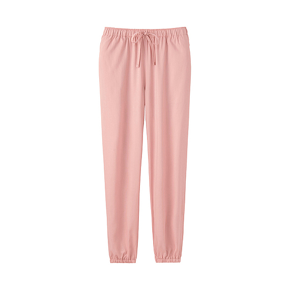 Women Soft Touch Drape Pants (4 Colours) Pink - length: standard; pattern: plain; style: harem/slouch; waist detail: belted waist/tie at waist/drawstring; waist: mid/regular rise; predominant colour: pink; occasions: casual; fibres: viscose/rayon - 100%; fit: tapered; pattern type: fabric; texture group: woven light midweight; season: s/s 2016; wardrobe: highlight