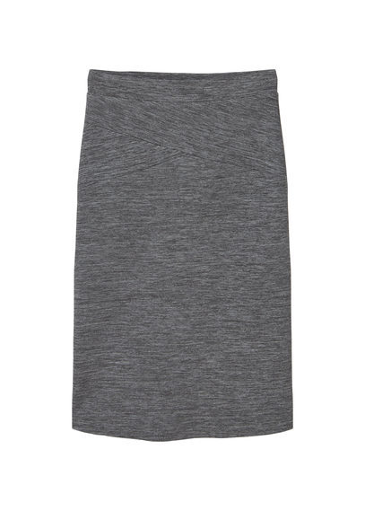Flecked Pencil Skirt - length: below the knee; pattern: plain; style: pencil; fit: body skimming; waist: mid/regular rise; predominant colour: charcoal; occasions: casual; fibres: polyester/polyamide - stretch; pattern type: fabric; texture group: woven light midweight; season: s/s 2016; wardrobe: basic