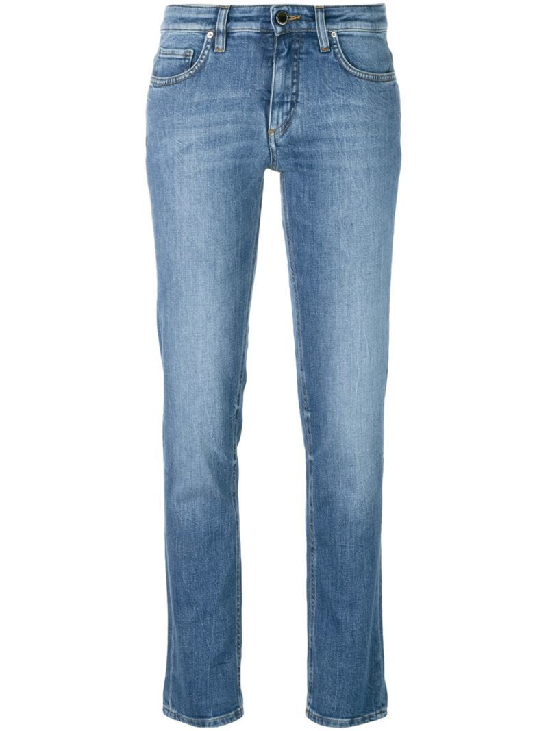 Skinny Jeans, Women's, Blue - style: skinny leg; length: standard; pattern: plain; pocket detail: traditional 5 pocket; waist: mid/regular rise; predominant colour: denim; occasions: casual; fibres: cotton - stretch; texture group: denim; pattern type: fabric; season: s/s 2016
