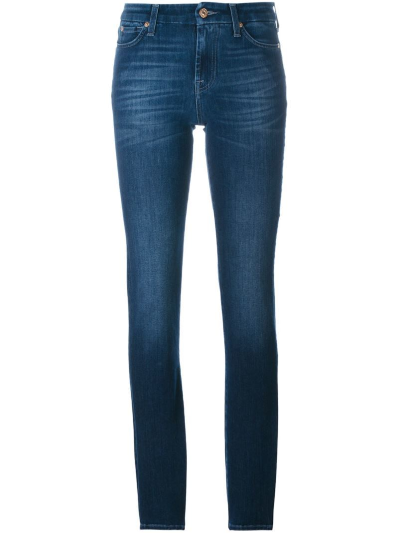 'the Skinny' Jeans, Women's, Blue - style: skinny leg; length: standard; pattern: plain; pocket detail: traditional 5 pocket; waist: mid/regular rise; predominant colour: navy; occasions: casual; fibres: cotton - stretch; jeans detail: whiskering; texture group: denim; pattern type: fabric; season: s/s 2016