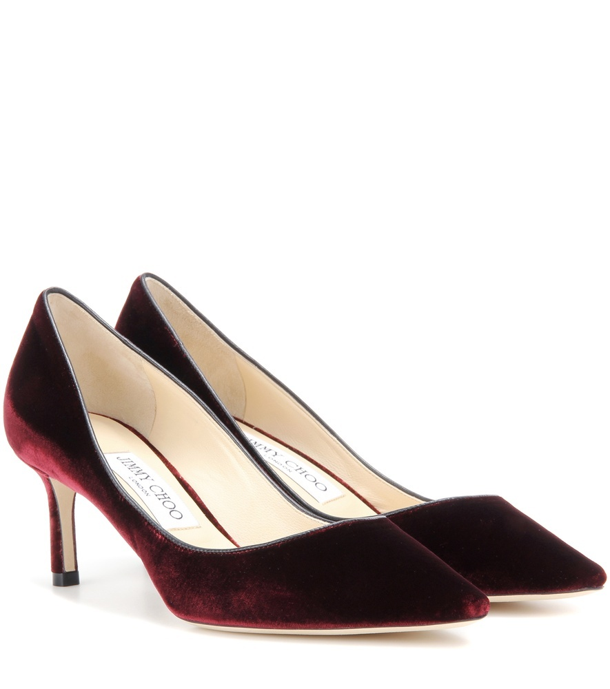 Romy 60 Velvet Pumps - predominant colour: burgundy; occasions: occasion, creative work; material: velvet; heel height: mid; heel: stiletto; toe: pointed toe; style: courts; finish: plain; pattern: plain; season: s/s 2016; wardrobe: highlight