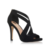 Shae - predominant colour: black; occasions: evening; material: suede; heel height: high; heel: stiletto; toe: open toe/peeptoe; style: courts; finish: plain; pattern: plain; season: s/s 2016