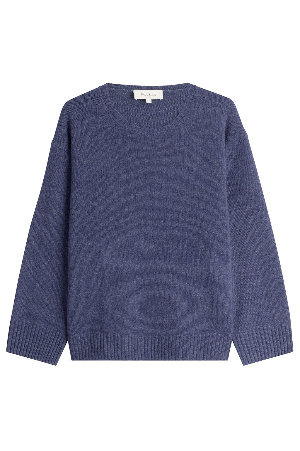 Cashmere Pullover - pattern: plain; style: standard; predominant colour: navy; occasions: casual; length: standard; fit: standard fit; neckline: crew; fibres: cashmere - 100%; sleeve length: long sleeve; sleeve style: standard; texture group: knits/crochet; pattern type: knitted - fine stitch; season: s/s 2016; wardrobe: investment
