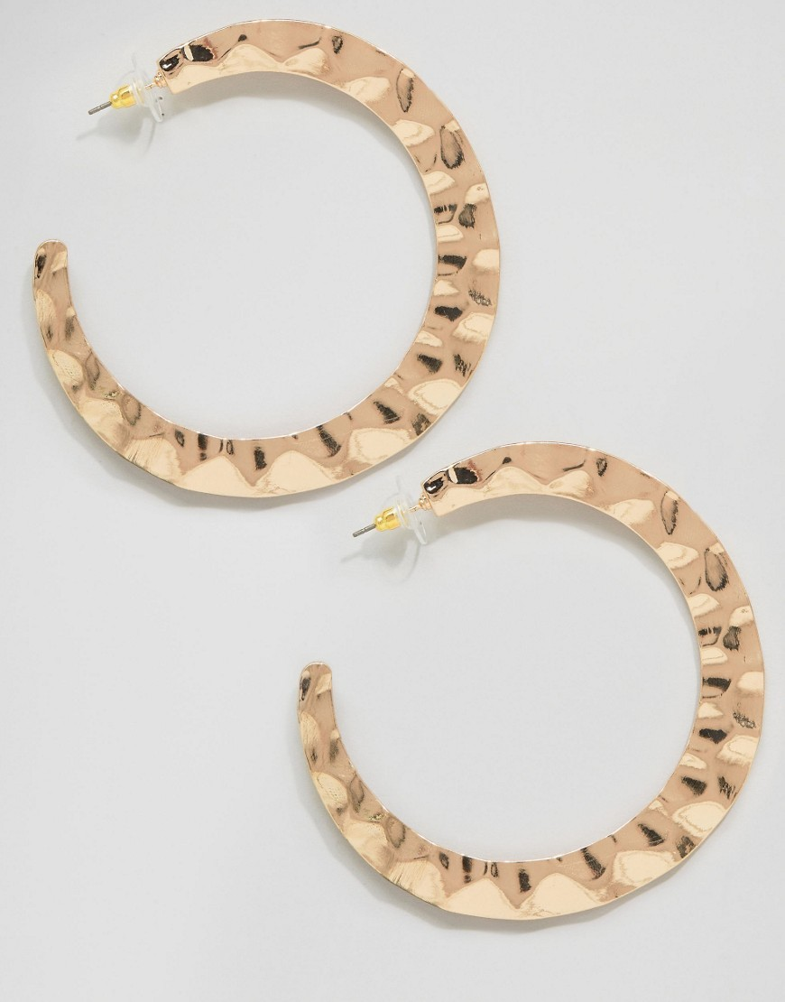 Paese Hoop Earrings Gold - predominant colour: gold; occasions: evening; style: hoop; length: long; size: standard; material: chain/metal; fastening: pierced; finish: metallic; season: s/s 2016; wardrobe: event