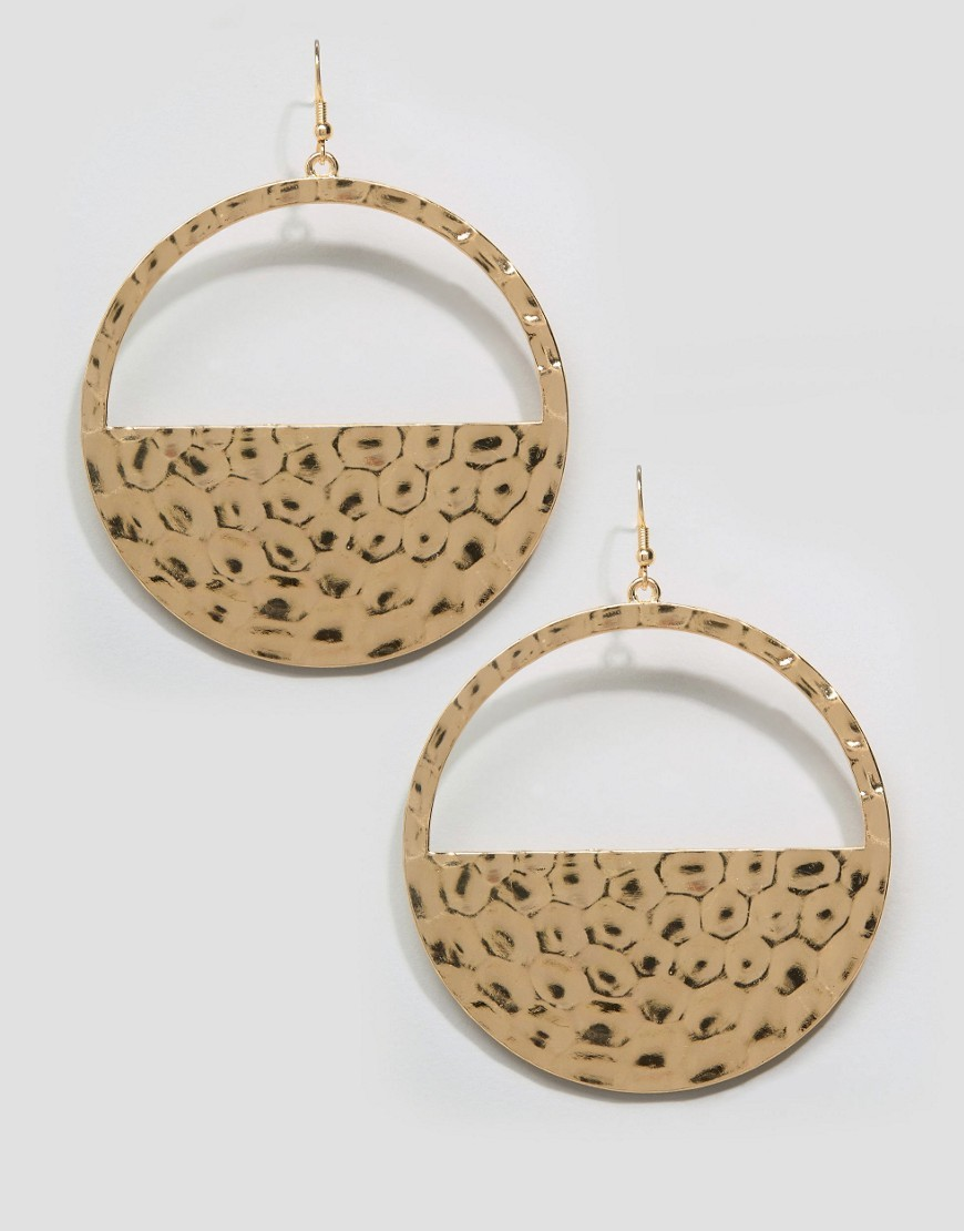 Bossert Hoop Drop Earrings Gold - predominant colour: gold; occasions: evening, occasion; style: hoop; length: long; size: standard; material: chain/metal; fastening: pierced; finish: metallic; season: s/s 2016; wardrobe: event