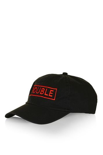 Trouble Unstructured Cap - secondary colour: true red; predominant colour: black; occasions: casual; type of pattern: light; style: cap; size: standard; material: fabric; pattern: plain; season: s/s 2016; wardrobe: basic