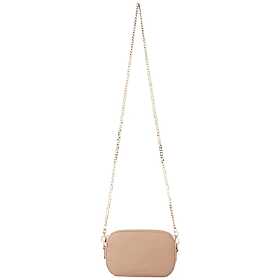 Baxter Mini Chain Camera Across Body Bag - predominant colour: nude; occasions: evening; type of pattern: standard; style: clutch; length: hand carry; size: small; material: leather; pattern: plain; finish: plain; season: s/s 2016; wardrobe: event