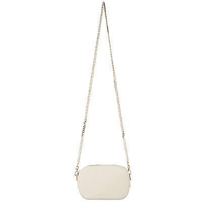 Baxter Mini Chain Camera Across Body Bag - predominant colour: ivory/cream; secondary colour: gold; occasions: evening; type of pattern: standard; style: clutch; length: hand carry; size: small; material: leather; pattern: plain; finish: plain; season: s/s 2016; wardrobe: event
