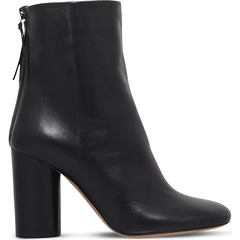 Garett Leather Ankle Boots, Women's, Eur 41 / 8 Uk Women, Black - predominant colour: black; occasions: casual; material: leather; heel height: high; heel: block; toe: round toe; boot length: ankle boot; style: standard; finish: plain; pattern: plain; season: s/s 2016; wardrobe: highlight