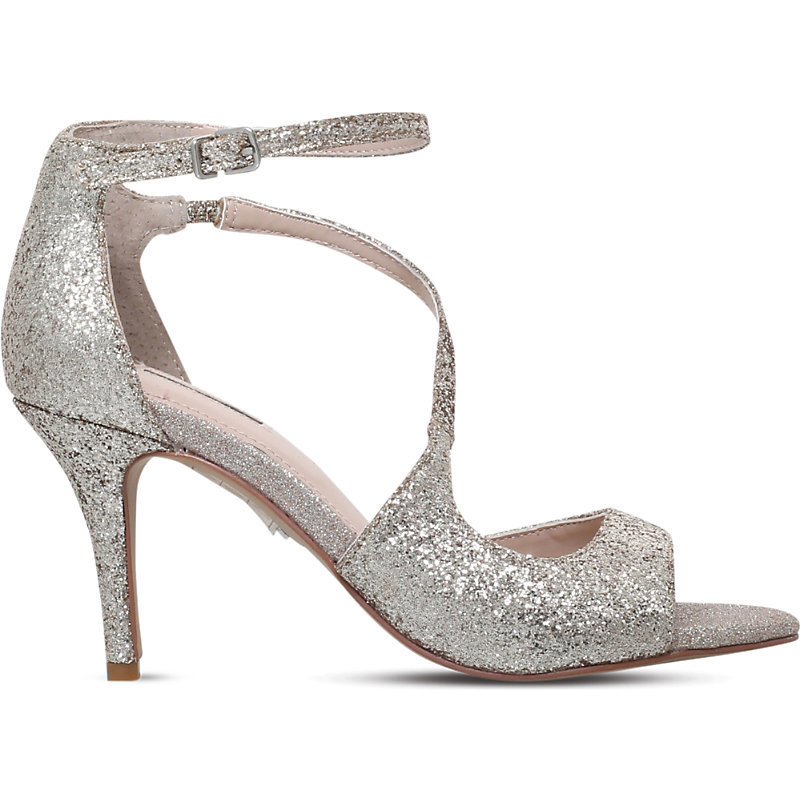 Gamma Metallic Heeled Sandals, Women's, Eur 40 / 7 Uk Women, Gold - predominant colour: silver; occasions: evening, occasion; material: leather; heel height: high; embellishment: glitter; ankle detail: ankle strap; heel: stiletto; toe: open toe/peeptoe; style: strappy; finish: metallic; pattern: plain; season: s/s 2016