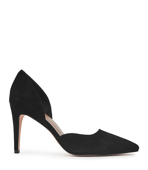 Lawrence Suede Suede Court Shoes - predominant colour: black; occasions: occasion, creative work; material: suede; heel height: high; heel: stiletto; toe: pointed toe; style: courts; finish: plain; pattern: plain; season: s/s 2016; wardrobe: investment