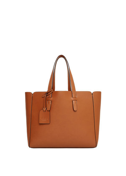 Shopper Bag - predominant colour: tan; occasions: casual, creative work; type of pattern: standard; style: tote; length: handle; size: standard; material: leather; pattern: plain; finish: plain; season: s/s 2016; wardrobe: highlight