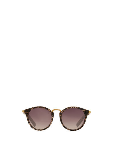 Contrasting Sunglasses - predominant colour: chocolate brown; secondary colour: gold; style: novelty; size: standard; material: plastic/rubber; occasions: holiday; finish: plain; pattern: patterned/print; season: s/s 2016; wardrobe: highlight