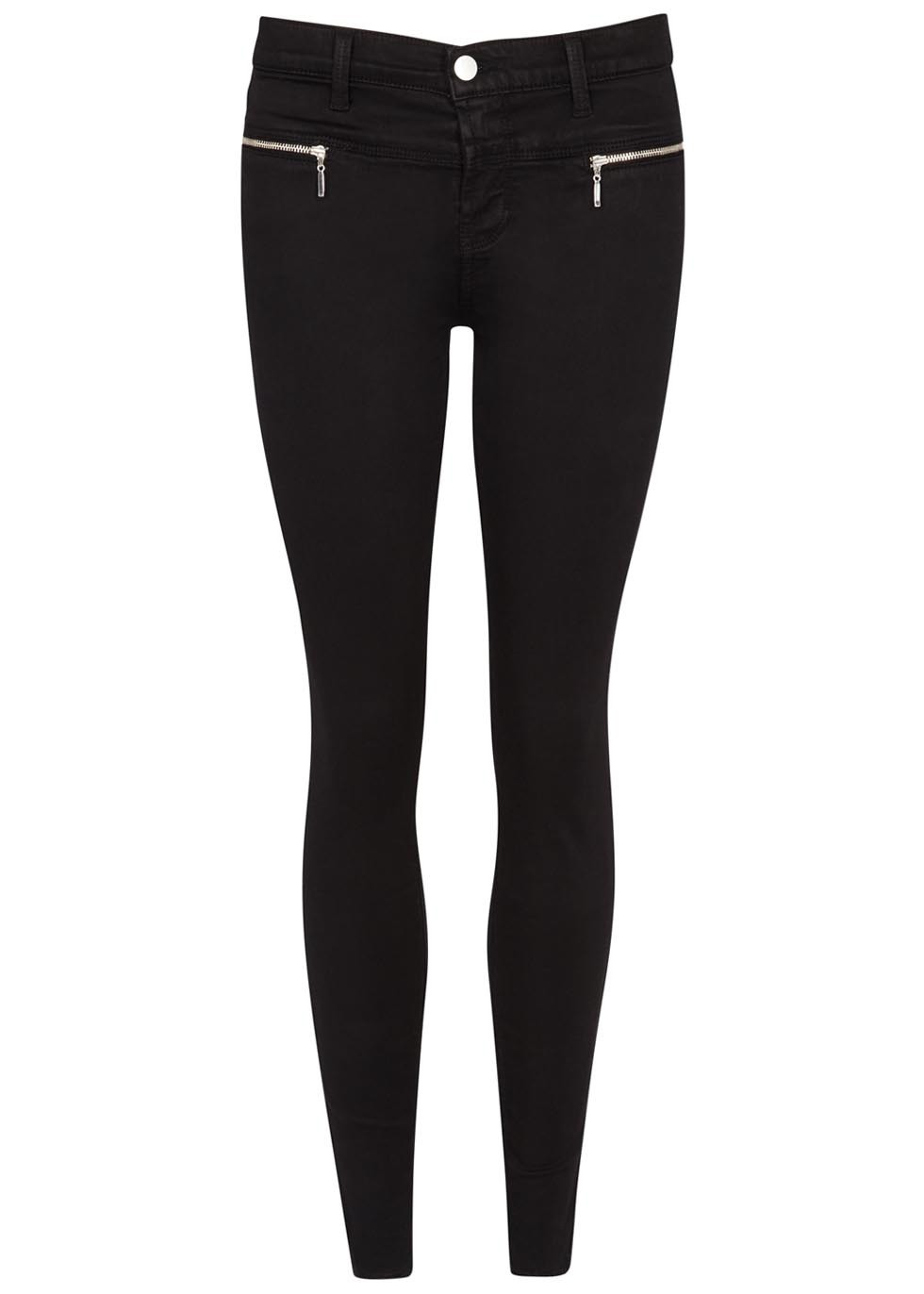 Miranda Black Skinny Jeans - style: skinny leg; length: standard; pattern: plain; waist: mid/regular rise; predominant colour: black; occasions: casual; fibres: cotton - mix; texture group: denim; pattern type: fabric; season: s/s 2016