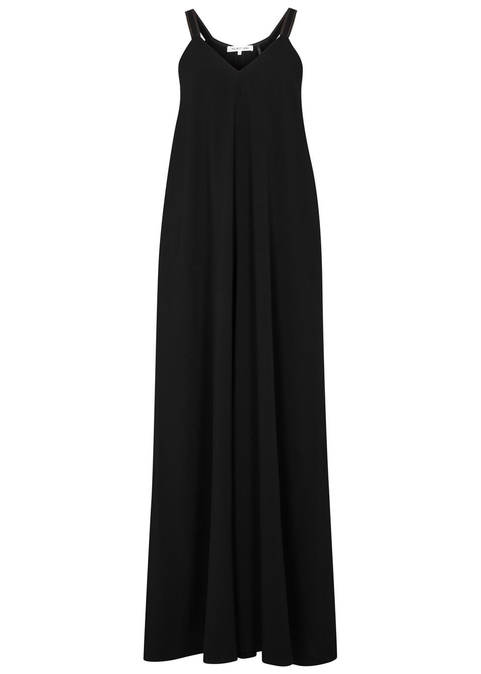 Black Wide Leg Jumpsuit - length: standard; neckline: round neck; sleeve style: spaghetti straps; fit: loose; pattern: plain; predominant colour: black; occasions: evening; fibres: viscose/rayon - stretch; sleeve length: sleeveless; texture group: crepes; style: jumpsuit; pattern type: fabric; season: s/s 2016; wardrobe: event