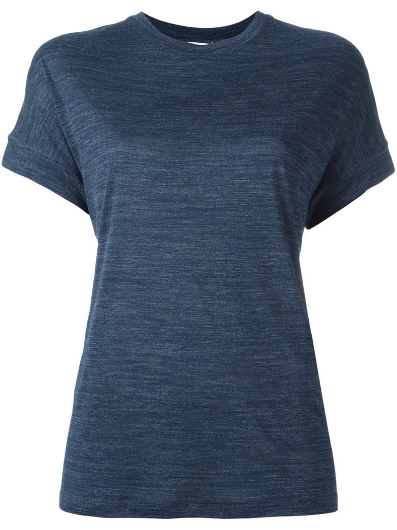 Basic T Shirt, Women's, Size: Medium, Blue - pattern: plain; style: t-shirt; predominant colour: navy; occasions: casual; length: standard; fibres: viscose/rayon - 100%; fit: body skimming; neckline: crew; sleeve length: short sleeve; sleeve style: standard; pattern type: fabric; texture group: jersey - stretchy/drapey; season: s/s 2016; wardrobe: basic