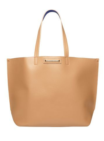 Womens Tan Purse Tote Bag Brown - predominant colour: camel; occasions: casual, work, creative work; type of pattern: standard; style: tote; length: shoulder (tucks under arm); size: standard; material: leather; pattern: plain; finish: plain; season: s/s 2016