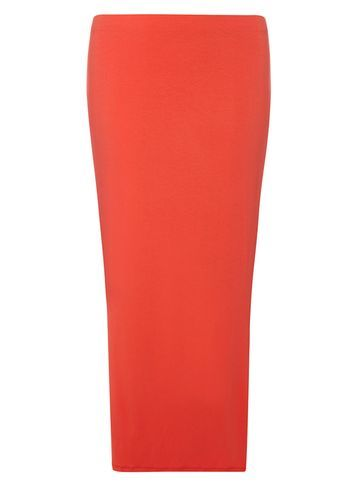 Womens Petite Coral Maxi Skirt Coral - pattern: plain; length: ankle length; fit: body skimming; waist: mid/regular rise; predominant colour: coral; occasions: casual; style: maxi skirt; fibres: viscose/rayon - stretch; pattern type: fabric; texture group: jersey - stretchy/drapey; season: s/s 2016; wardrobe: highlight