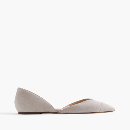 Sadie Flats In Suede - predominant colour: mid grey; occasions: casual, creative work; material: suede; heel height: flat; toe: pointed toe; style: ballerinas / pumps; finish: plain; pattern: plain; season: s/s 2016; wardrobe: basic
