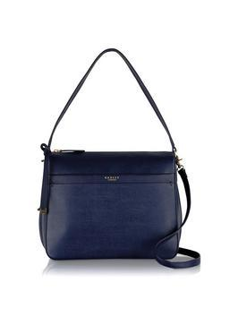 Addison Multiway Shoulder Bag - predominant colour: navy; occasions: casual, creative work; type of pattern: standard; style: tote; length: handle; size: standard; material: leather; pattern: plain; finish: plain; season: s/s 2016; wardrobe: investment