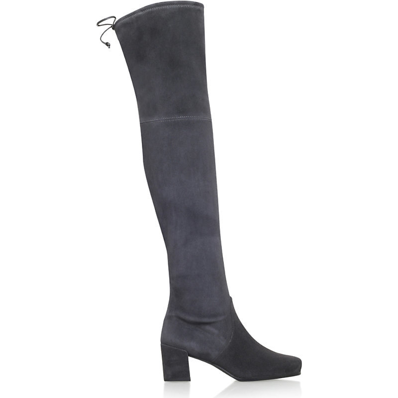 Hinterland Over The Knee Suede Boots, Women's, Eur 40.5 / 7.5 Uk Women, Dark Grey - predominant colour: charcoal; occasions: casual, creative work; material: suede; heel height: mid; heel: block; toe: round toe; boot length: over the knee; style: standard; finish: plain; pattern: plain; season: s/s 2016