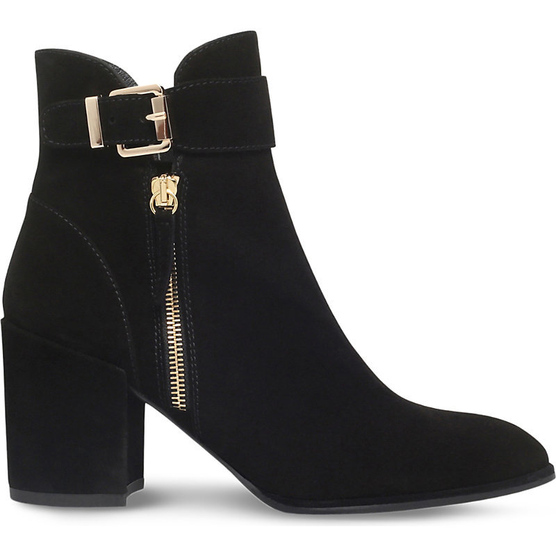 Laptop Suede Ankle Boots, Women's, Eur 39 / 6 Uk Women, Black - predominant colour: black; occasions: casual, creative work; material: suede; heel height: mid; embellishment: buckles; heel: block; toe: round toe; boot length: ankle boot; style: standard; finish: plain; pattern: plain; season: s/s 2016