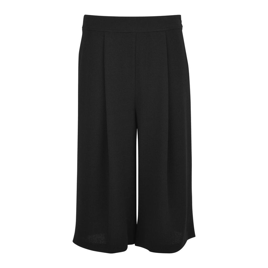 Essentials Crepe Culottes - pattern: plain; waist: mid/regular rise; predominant colour: black; occasions: casual, work, creative work; fibres: polyester/polyamide - stretch; texture group: crepes; pattern type: fabric; season: s/s 2016; wardrobe: basic; style: tailored shorts; length: below the knee; fit: standard