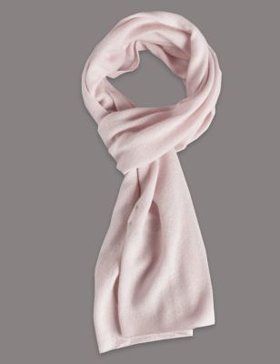 Pure Cashmere Scarf - predominant colour: blush; occasions: casual, creative work; type of pattern: standard; style: regular; size: standard; pattern: plain; material: cashmere; season: s/s 2016; wardrobe: investment