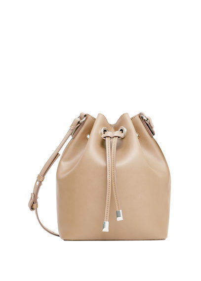Bucket Bag - predominant colour: camel; occasions: casual; type of pattern: standard; style: onion bag; length: across body/long; size: standard; material: faux leather; pattern: plain; finish: plain; season: s/s 2016; wardrobe: investment