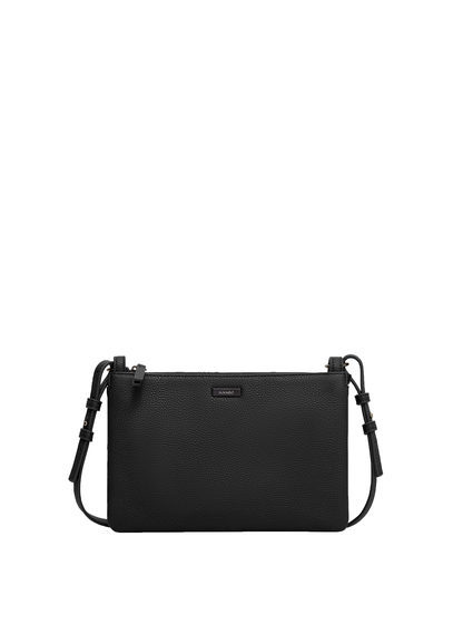 Pebbled Cross Body Bag - predominant colour: black; occasions: casual; type of pattern: standard; style: messenger; length: across body/long; size: standard; material: faux leather; pattern: plain; finish: plain; season: s/s 2016; wardrobe: basic