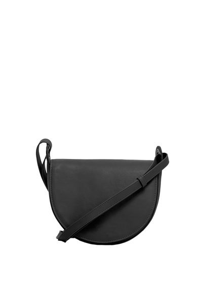 Flap Cross Body Bag - predominant colour: black; occasions: casual; type of pattern: standard; style: messenger; length: across body/long; size: small; material: faux leather; pattern: plain; finish: plain; season: s/s 2016; wardrobe: basic