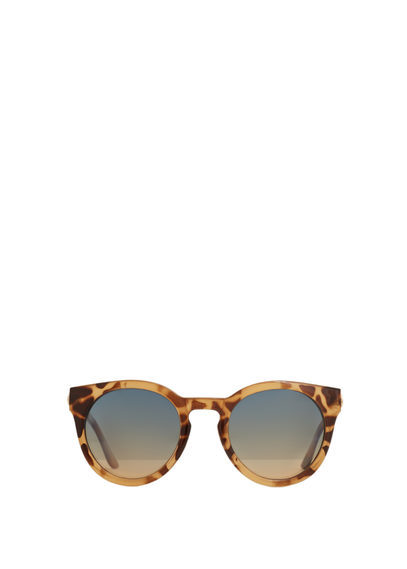 Tortoiseshell Sunglasses - predominant colour: chocolate brown; secondary colour: camel; occasions: casual, holiday; style: round; size: standard; material: plastic/rubber; pattern: animal print; finish: plain; season: s/s 2016; wardrobe: highlight