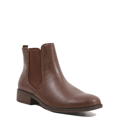 Chelsea Boots Tan - predominant colour: chocolate brown; occasions: casual, creative work; material: faux leather; heel height: mid; heel: block; toe: round toe; boot length: ankle boot; finish: plain; pattern: plain; style: chelsea; season: s/s 2016; wardrobe: basic