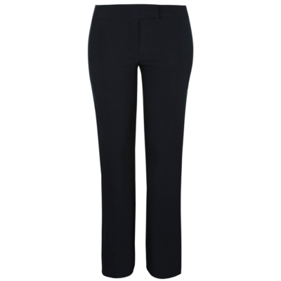 Bootcut Formal Trousers Navy - length: standard; pattern: plain; waist: mid/regular rise; predominant colour: navy; occasions: evening; fibres: polyester/polyamide - 100%; texture group: crepes; fit: bootcut; pattern type: fabric; style: standard; season: s/s 2016; wardrobe: event