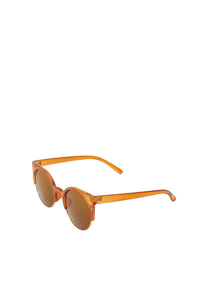 Retro Style Sunglasses - predominant colour: bright orange; occasions: casual, holiday; style: cateye; size: standard; material: plastic/rubber; pattern: plain; finish: plain; season: s/s 2016; wardrobe: highlight
