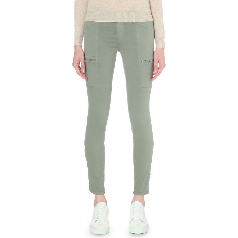 Kassidy Skinny Mid Rise Jeans, Women's, Distressed Clover - style: skinny leg; length: standard; pattern: plain; pocket detail: traditional 5 pocket; waist: mid/regular rise; predominant colour: pistachio; occasions: casual, creative work; fibres: cotton - stretch; texture group: denim; pattern type: fabric; season: s/s 2016; wardrobe: highlight