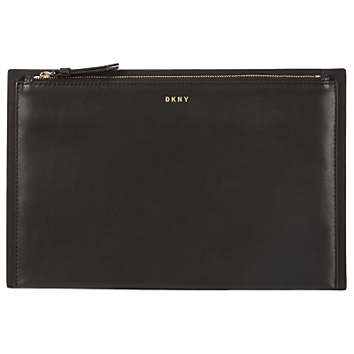 Smooth Leather Clutch Bag - predominant colour: black; occasions: casual, creative work; type of pattern: standard; style: clutch; length: hand carry; size: small; material: leather; pattern: plain; finish: plain; season: s/s 2016
