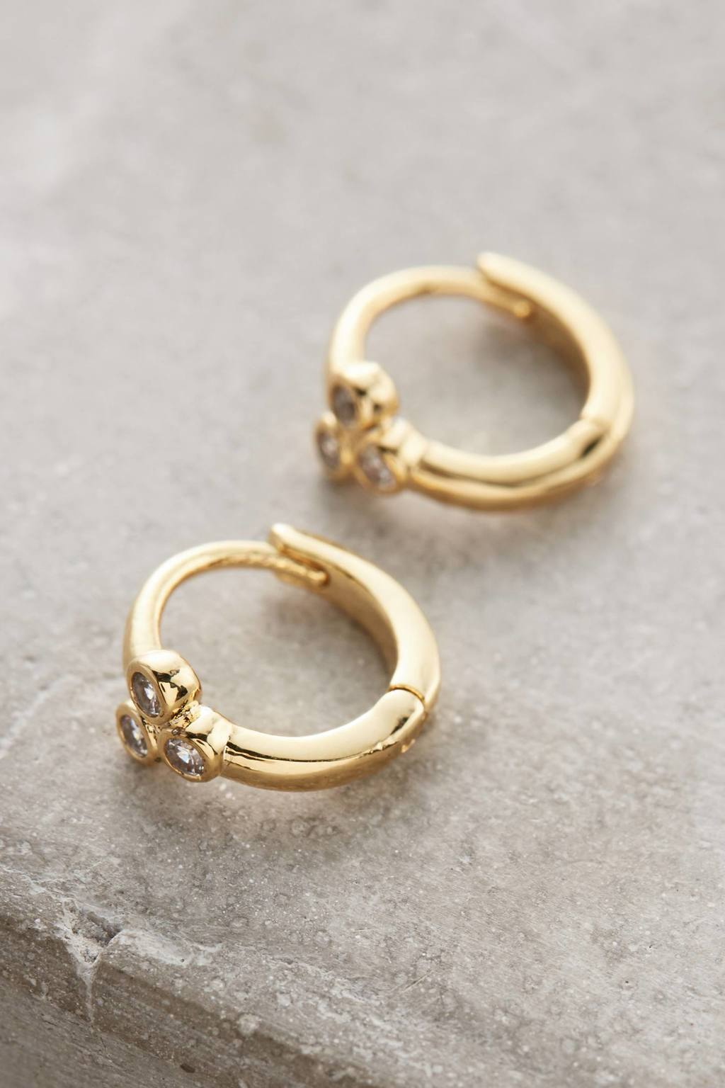 Trinna Mini Hoop Earrings - predominant colour: gold; occasions: evening, work, occasion; style: hoop; length: short; size: standard; material: chain/metal; fastening: clip on; finish: metallic; embellishment: chain/metal; season: s/s 2016